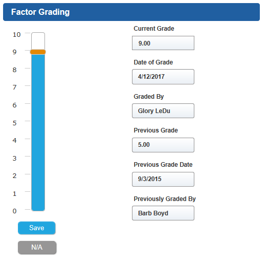 ComplySight Factor Grading